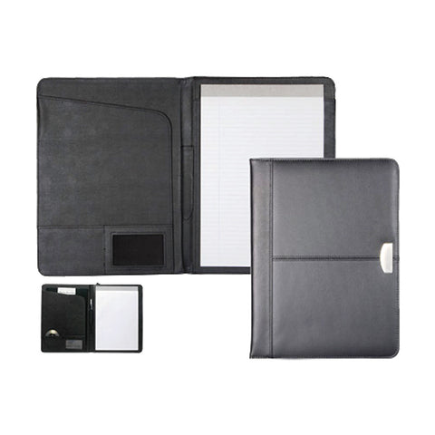 Leather Zip-up Folder with Memopad