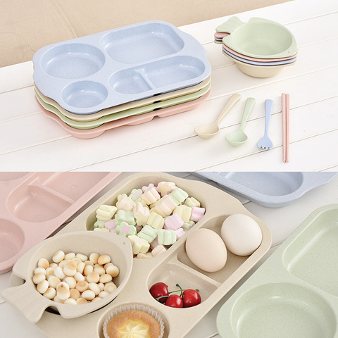 Wheat Straw Dishes 5pcs Set