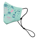 Anti-Bacterial Face Mask with Long Adjustable Strap