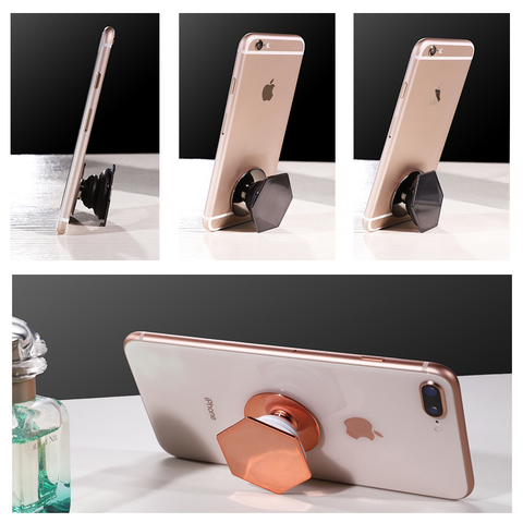 Hexagon Plating Airbag Phone Holder