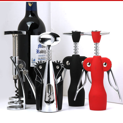 Multi-purpose wine bottle opener