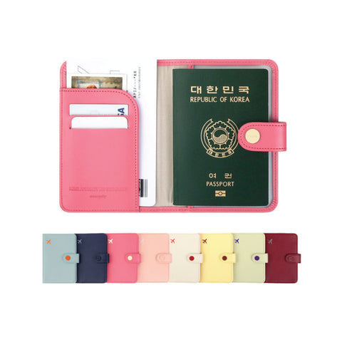New RFID anti-degaussing short passport holder