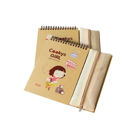 Notebook with Pencil Case 60 sheets/80gsm