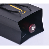 Black Card Single Wine Paper Bag