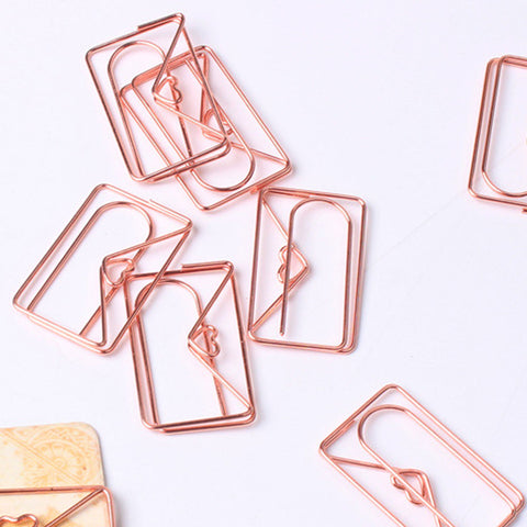 Envelope Paper Clip (Rose Gold)