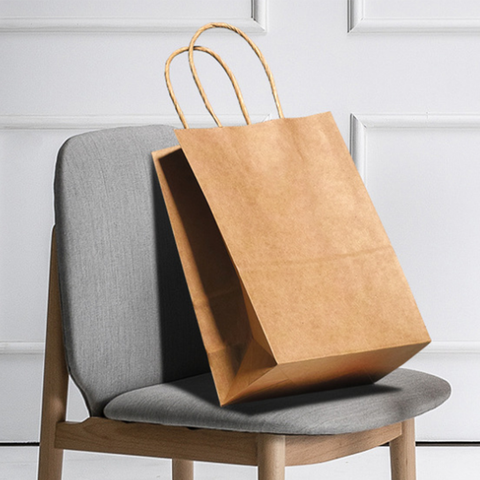 Kraft Paper Tote Bag with Twisted Handle - YG Corporate Gift