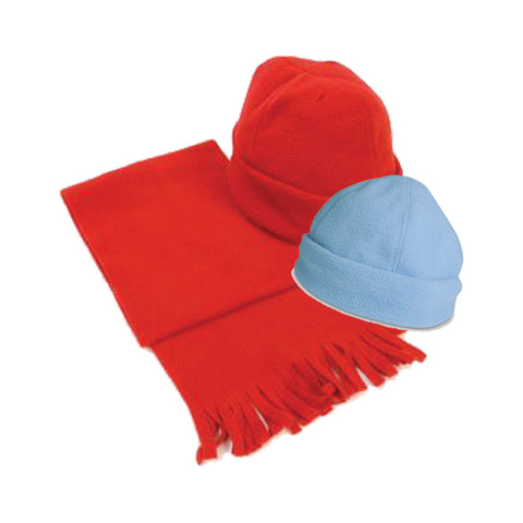 Polar Fleece Hat with Shawl