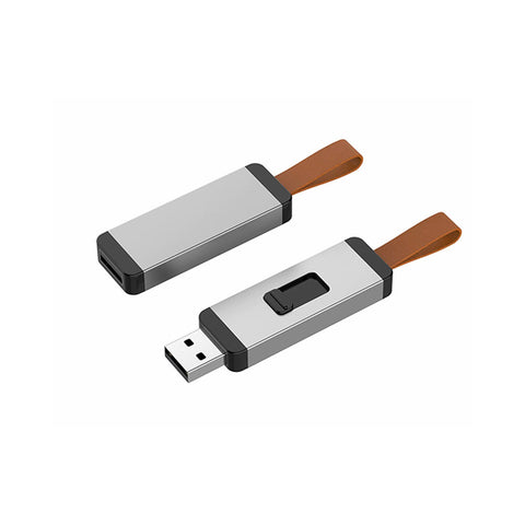 Push And Pull Metal USB Flash Drive