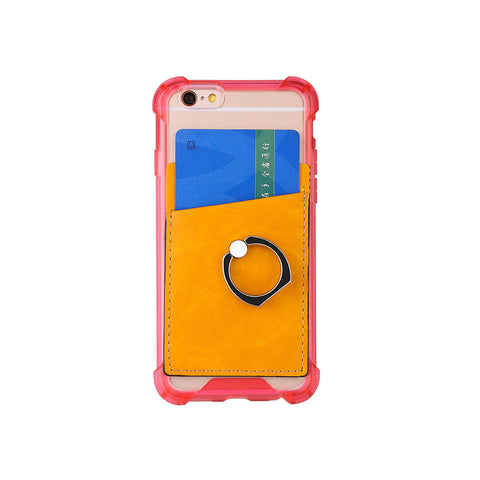 RFID PU Leather Card Holder/iRing Stand
