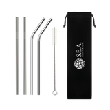5-Set Metal Straw/Reusable Straws