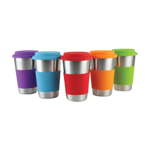 Stainless Steel Mug with Food grade silicone sleeve and cover