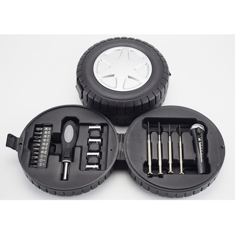 Tire-shaped tool kit