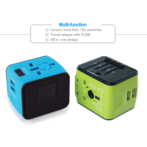 Travel adaptor with 2 USB
