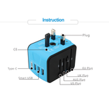 Travel Adapter with 3 USB Ports