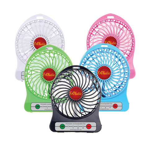 USB Portable Fan with rechargeable Battery