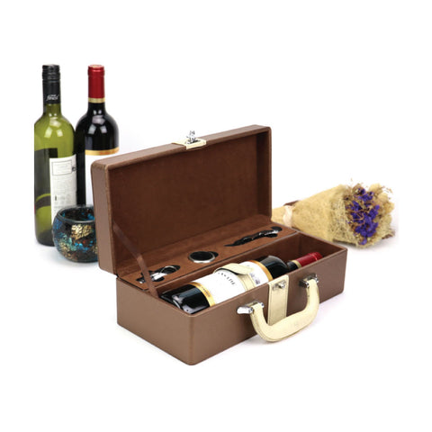 Wine Opener Set in Leather Box