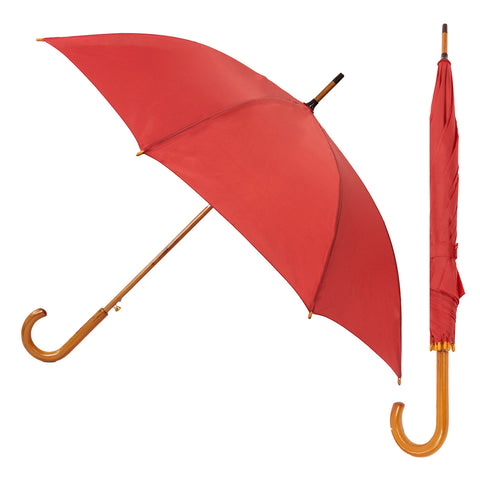 "23"" Auto Open/Close Umbrella with Wooden J Handle - YG Corporate Gift"
