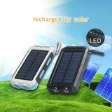 Waterproof Solar Powerbank with double LED torches and compass - YG Corporate Gift