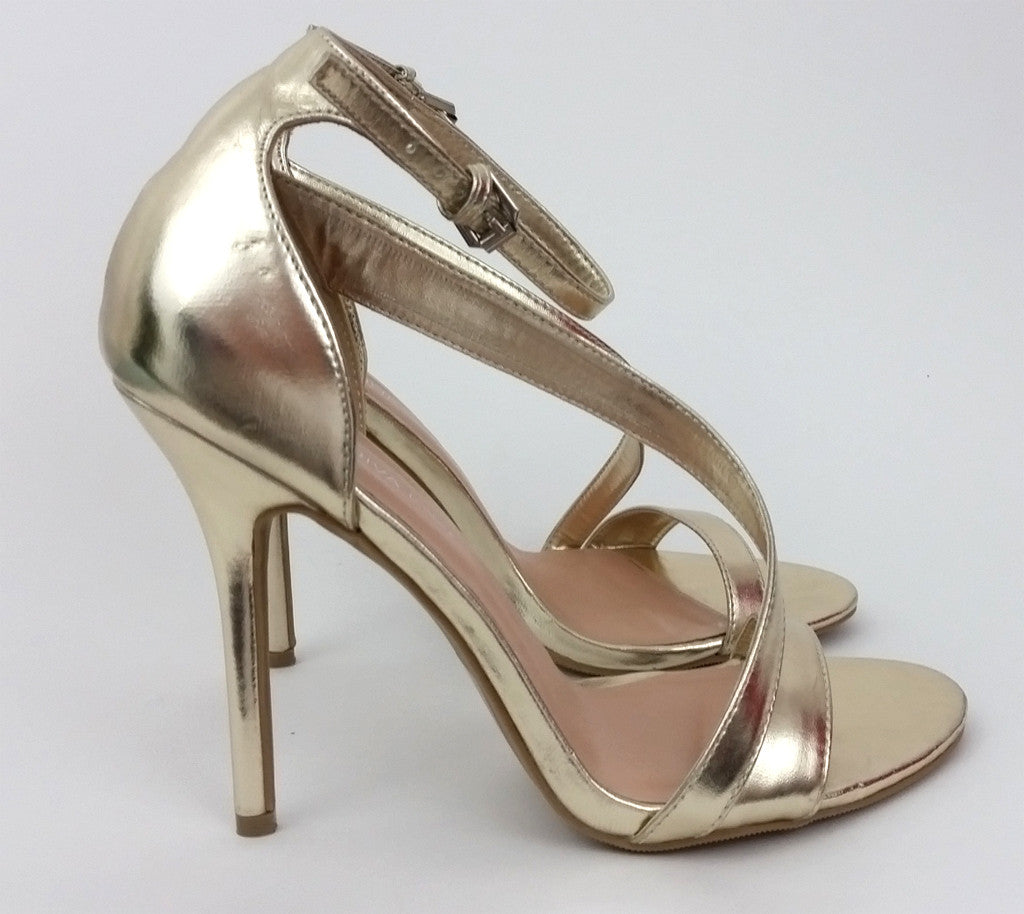 Linda Gold Heels by Wild Diva Lounge