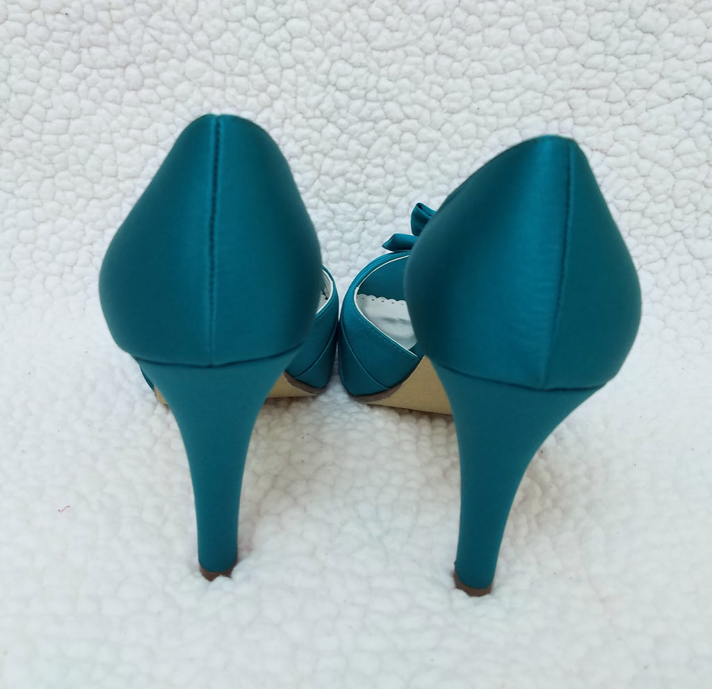 MICHAEL ANGELO OPEN TOE SHOES WITH BOW