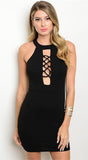 Black Night Bodycon Mini Dress