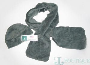 Beautiful Pale Green Scarf and Hat Set - CJJBoutique.com