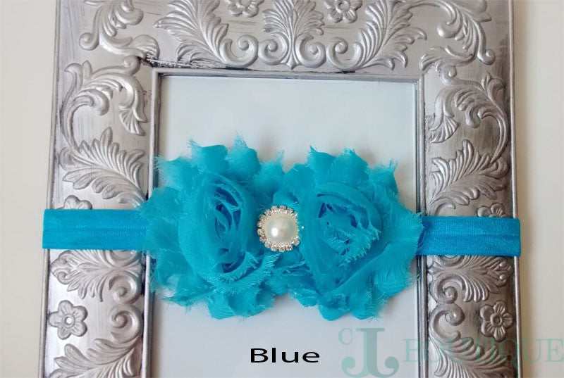 Blue Lace Headband - CJJBoutique.com