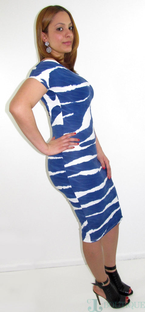 Blue Ocean Bodycon Dress - CJJBoutique.com