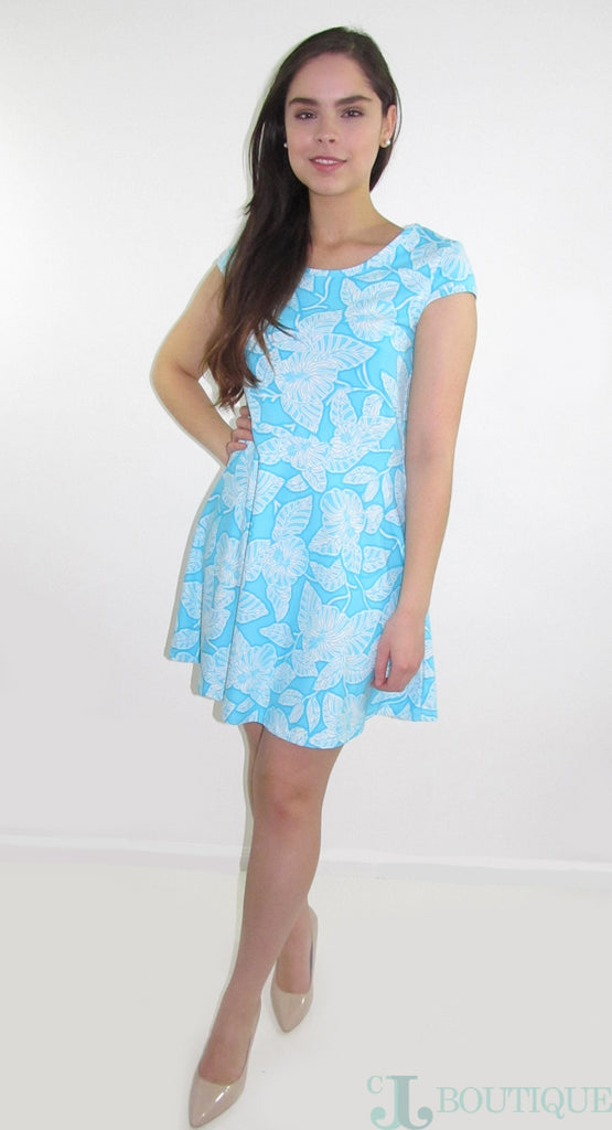 Skater Blue Dress - CJJBoutique.com