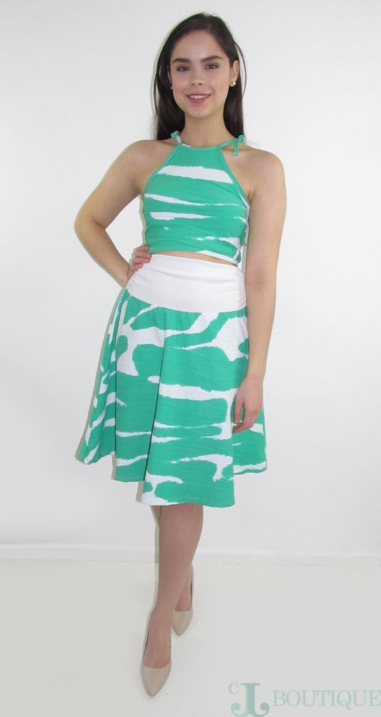 SHARON GREEN TWO PIECE DRESS - CJJBoutique.com