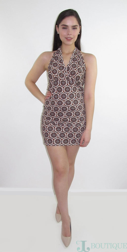 Brown Mini bodycon Skirt Set - CJJBoutique.com