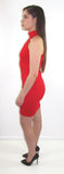 Lindo Red Mini Dress - CJJBoutique.com