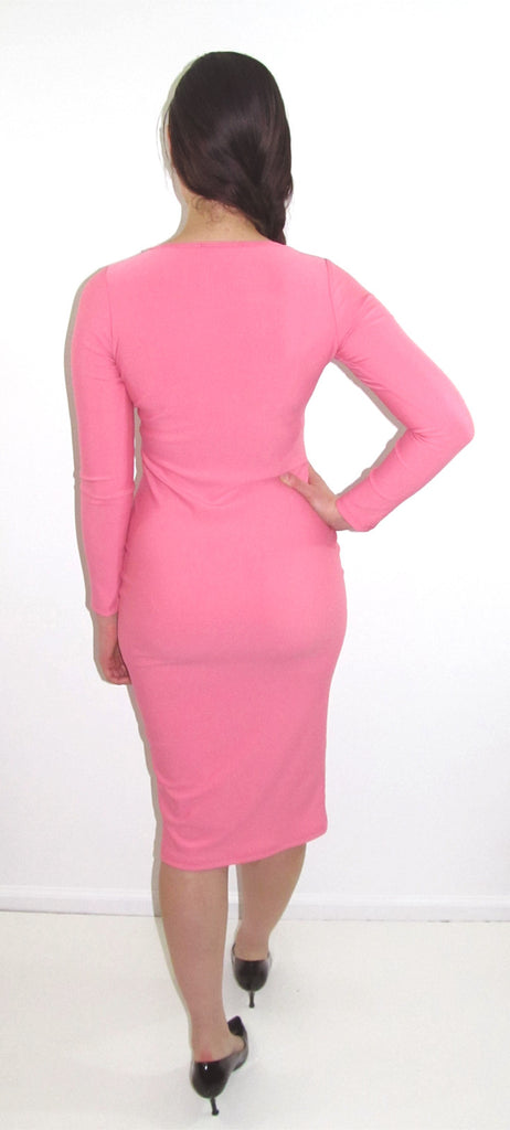 Long Sleeve Midi Bodycon - CJJBoutique.com