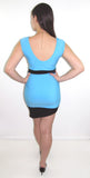 Azul Precioso Mini Bodycon Dress - CJJBoutique.com