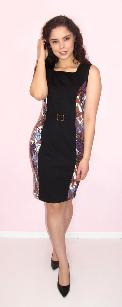 Mia Two Tone Floral Dress - CJJBoutique.com
