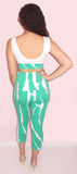 CUTE CROP TOP AND CAPRIS PANTS SET - CJJBoutique.com
