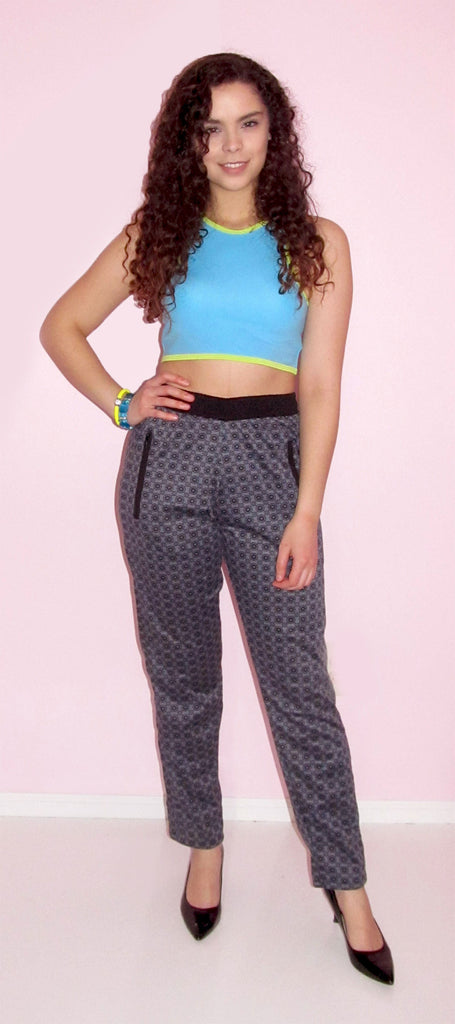 Beautiful Blue Turquoise Crop Top - CJJBoutique.com