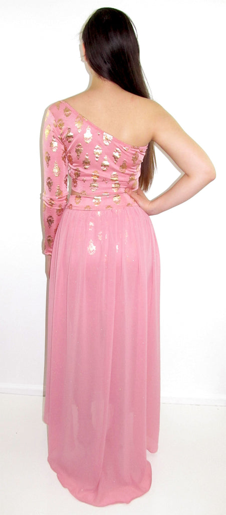 Princess One Shoulder Two Piece Dress - CJJBoutique.com