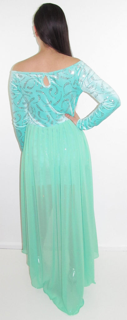 Beautiful Bright Mint High Low Party Dress