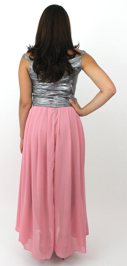 Pink and Silver Party Skirt Set