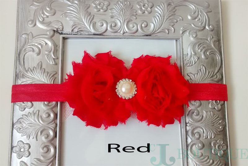 Red Lace Headband - CJJBoutique.com