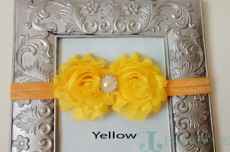 Yellow Lace Headband - CJJBoutique.com