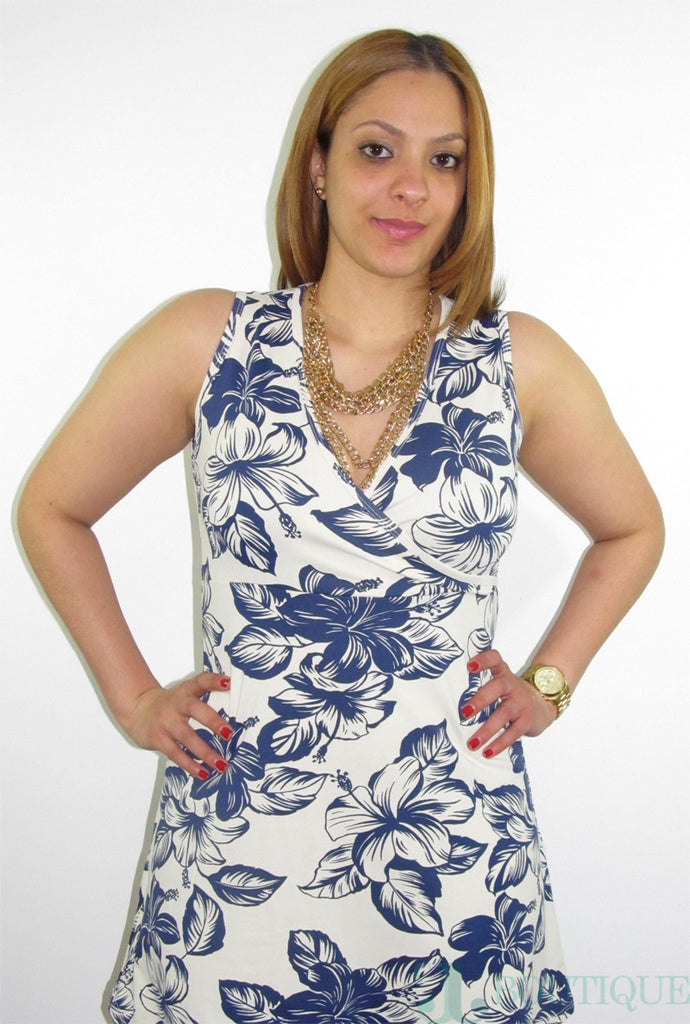 Flower Pattern Dress - CJJBoutique.com