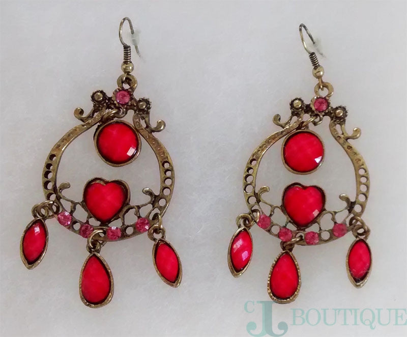 Pink Chandelier Earrings - CJJBoutique.com