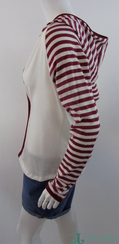 Beige Striped Sweater - CJJBoutique.com