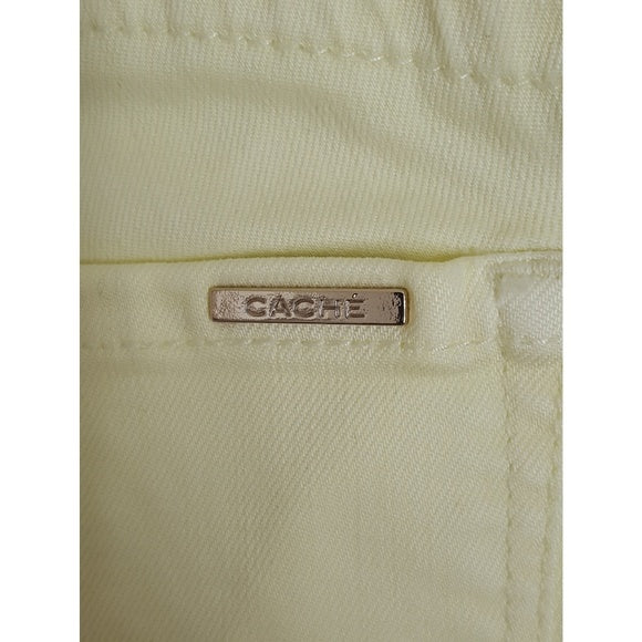 Cache skinny ankle light green jeans