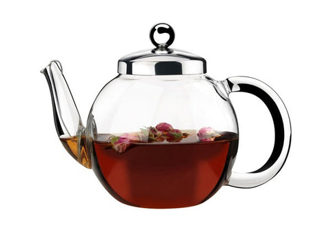 Athena Glass Teapot with Strainer - 1 Litre