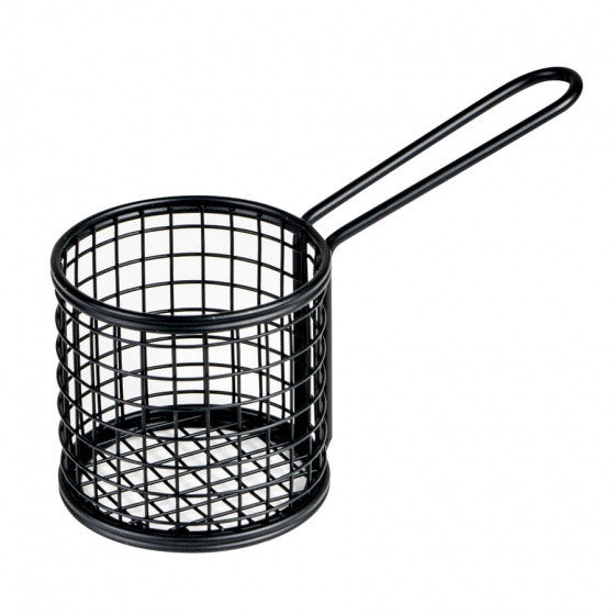 Moda Serving Basket - Round - Black