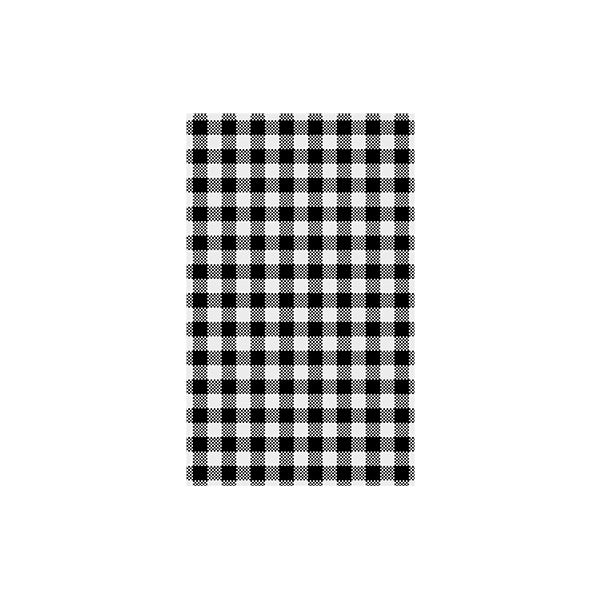 Gingham Greaseproof Paper - Black (200 sheets)