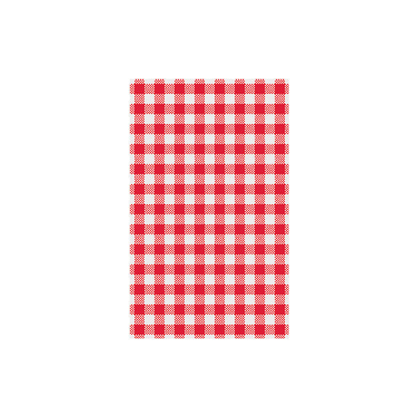 Gingham Greaseproof Paper - Red (200 sheets)